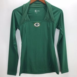 NFL Team Apparel Couture Womans Greenbay Top